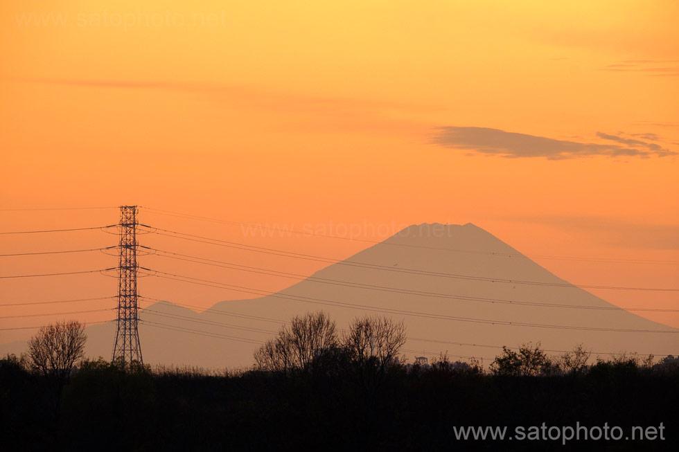 戸田市からの富士山
